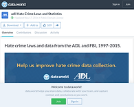 Screenshot of Hate crime laws and data website