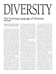 First page of the Evolving Language of Diversity article