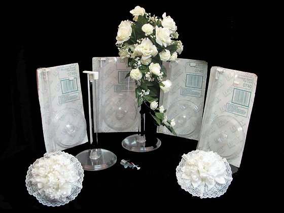 Clear Plastic Bouquet Holder-Gentle Used