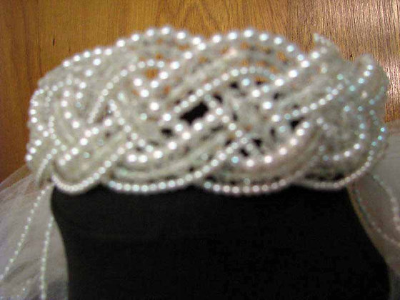 Braided Pearl Headpiece