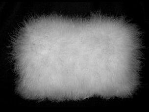 White Marabou Feather Muff