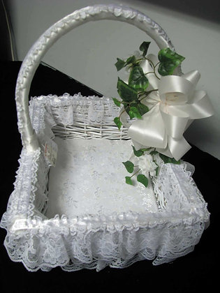 Lace & Satin Wicker Basket