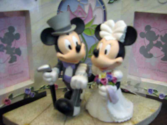 Disney Mickey Mouse & Minnie Mouse Cake Topper