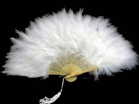 Marabou Feather Folding Fan