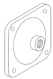 05. 03393 Cap, Diaphragm Outlet
