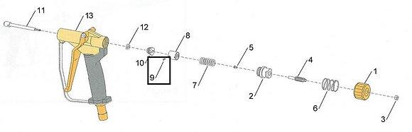9 - Setscrew, rod guide