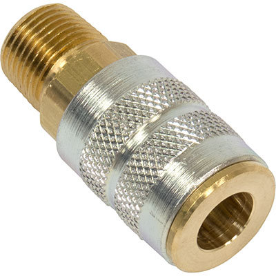 "BU-V15 Bullard Brass 1/4"" x 3/8"" Coupler"