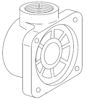 06. 06135 Body, Diaphragm Outlet