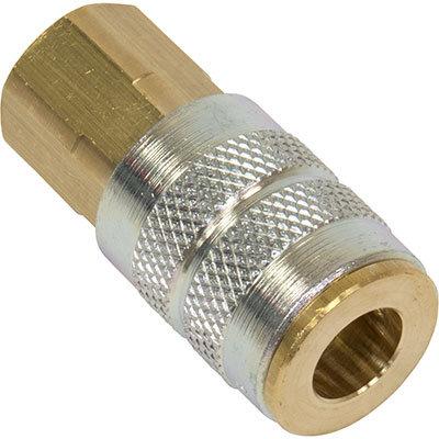 "BU-V14 Bullard Brass 1/4"" x 1/4"" Coupler"