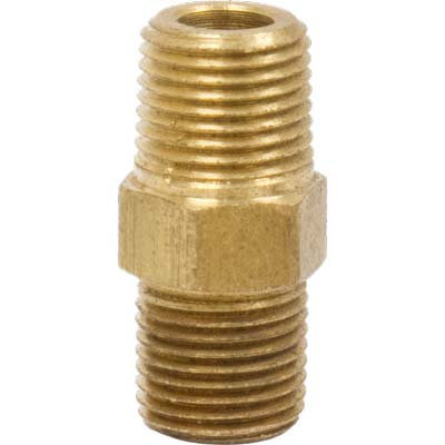 "CL-01962 Nipple, Hex 1/8"" MNPT x 1/8"" MNPT"