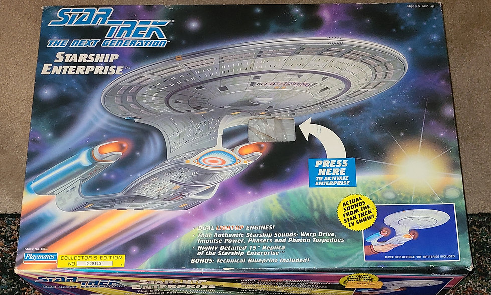 Star Trek : The Next Generation - Starship Enterprise- Playmates *Open Box