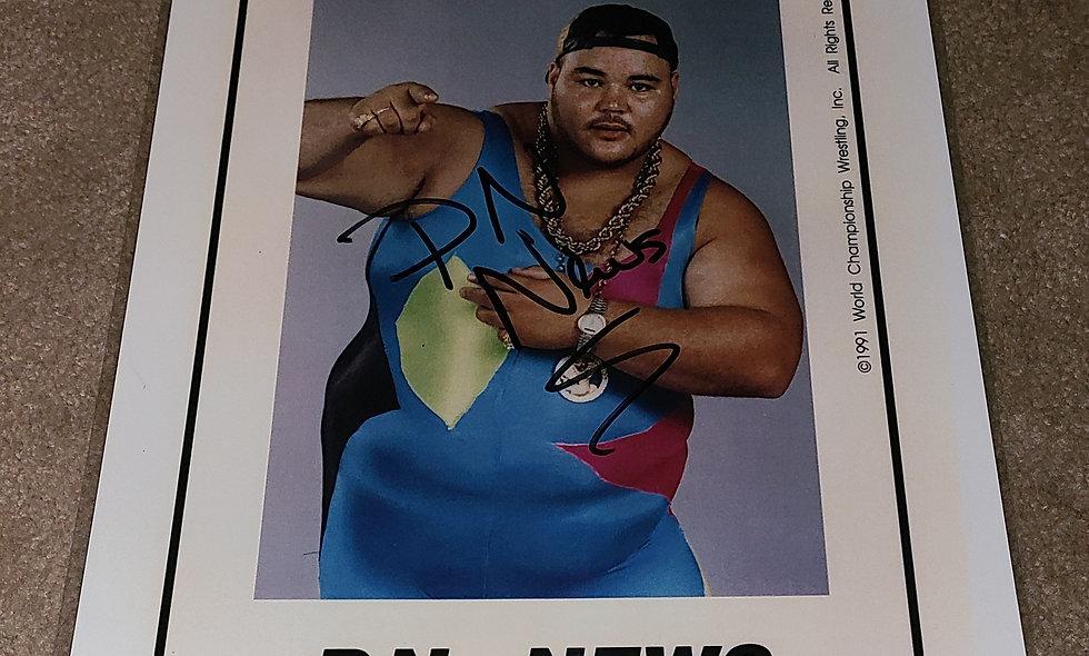 P.N. News - WWE / WCW - Autographed 8.5×11