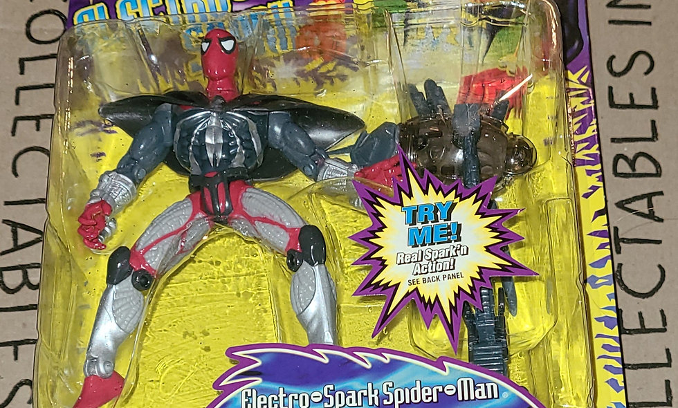 Marvel : Electro Spark Spiderman : ToyBiz 1997