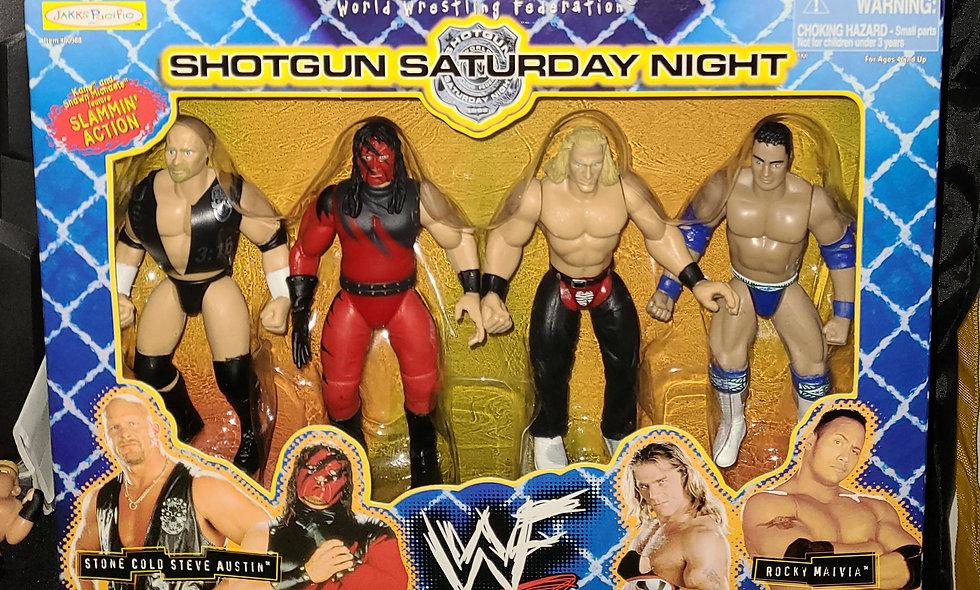 WWF Shotgun Saturday Night - Austin Kane Michaels Maivia - Jakks Wrestling