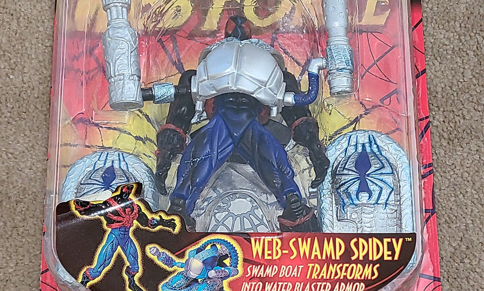 Marvel : Web Swamp Spidey : Spiderman Web Force : ToyBiz 1997