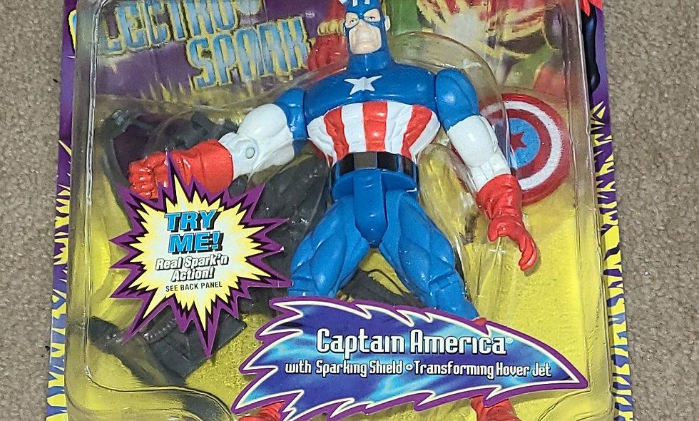 Marvel : Captain America : Spiderman Electro Spark : ToyBiz 1997
