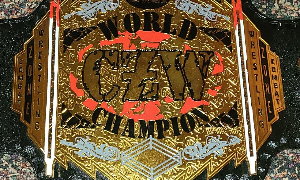 CZW : World Champion Belt - Replica 2mm Zinc Plates - Deathmatch