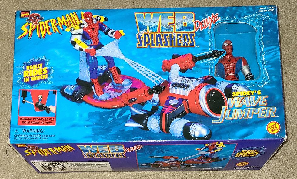 Marvel : Spideys Wave Jumper : Spiderman Web Splashers Deluxe : ToyBiz 1997