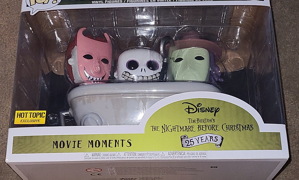 Funko Pop : A Nightmare Before Christmas - Lock, Shock,& Barrel : #474 Hot Topic