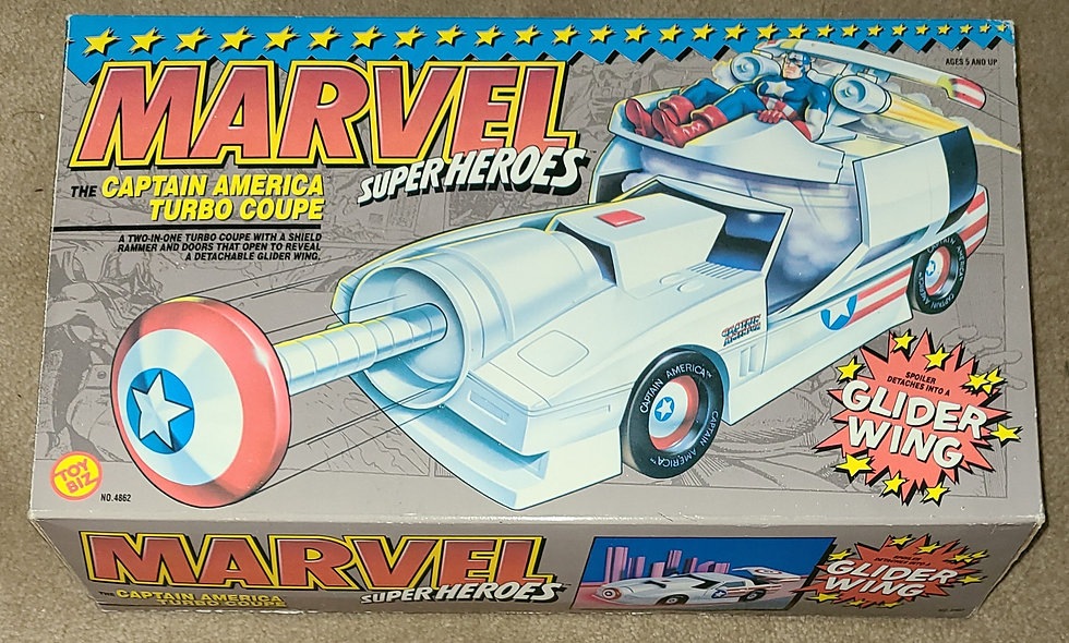 Marvel : Caotain America Turbo Coupe : ToyBiz 1993 Complete
