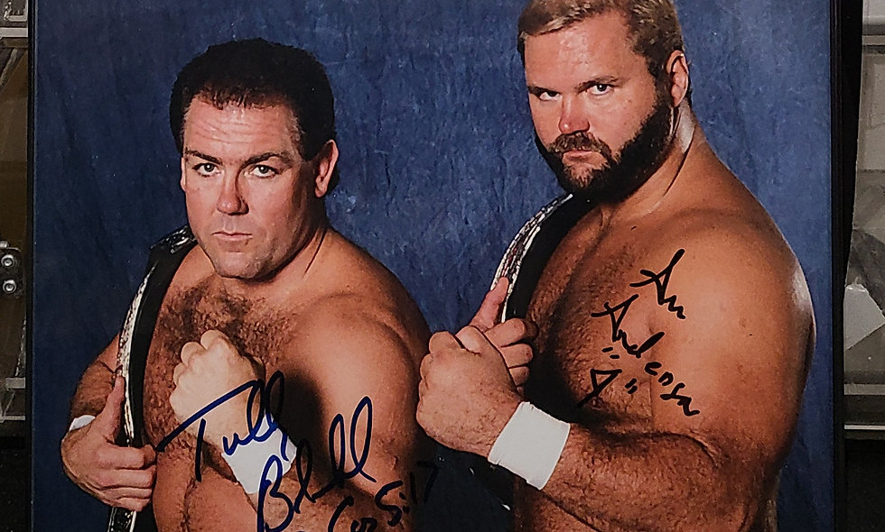 *Autographed - TERRY BLANCHARD & ARN ANDERSON - Promo Wrestling  Wcw Wwf