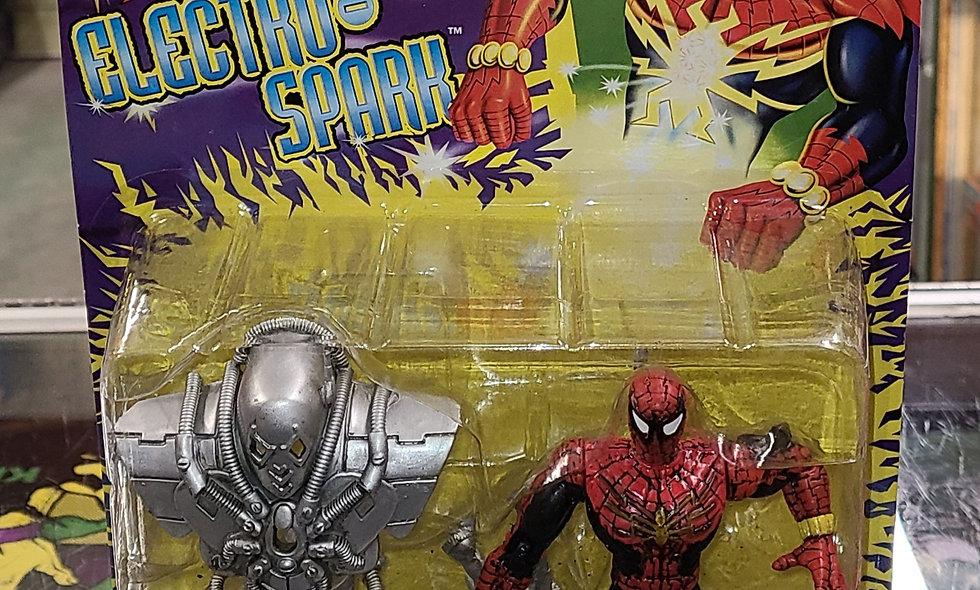 Marvel : Electro Shock Spidey : Spiderman Electro Spark : Toybiz 1997