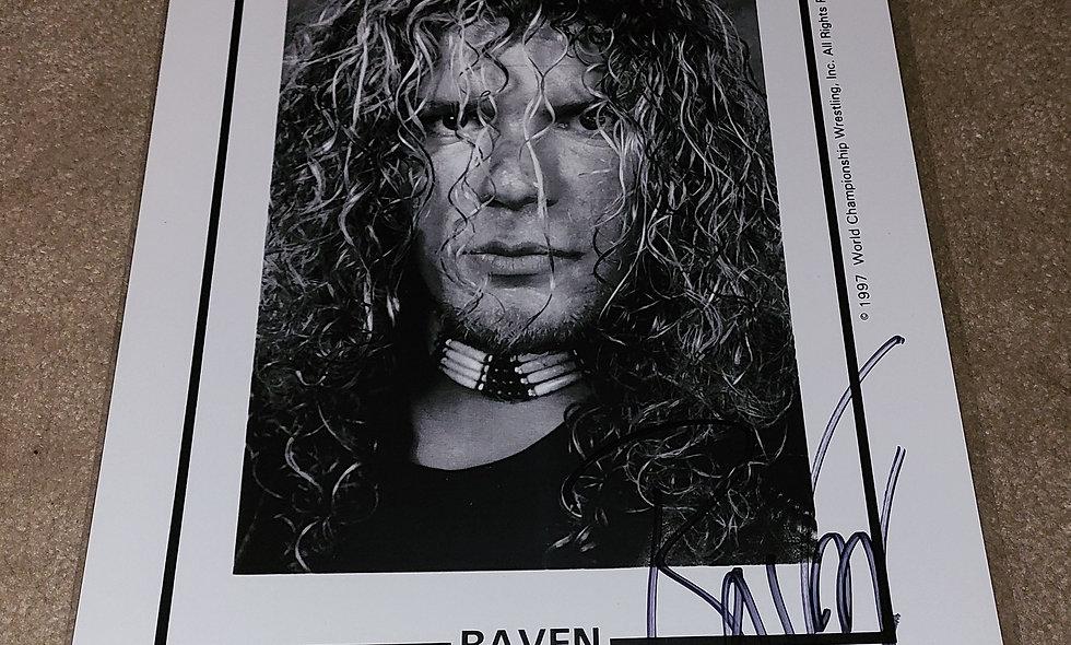 Raven - WCW / ECW / WWE / TNA - Autographed  8.5×11