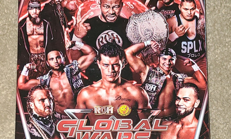 ROH - Global Wars 2018 - 4 Complete Shows - 11/7, 11/8, 11/9, & 11/11/2018 - DVD