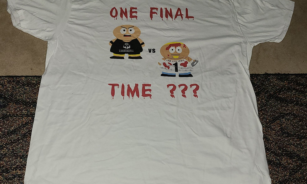Jeff Cannonball vs Louie Ramos : One Final Time ??? - 2x T-Shirt New