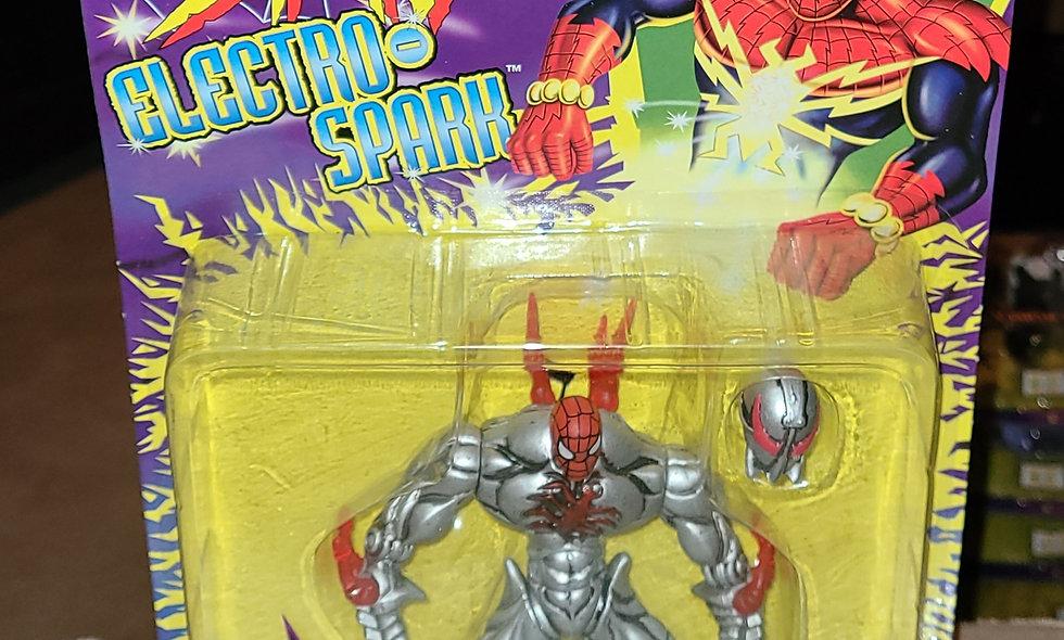 Marvel : Steel Shock Spiderman : Spiderman Electro Spark : ToyBiz  1997