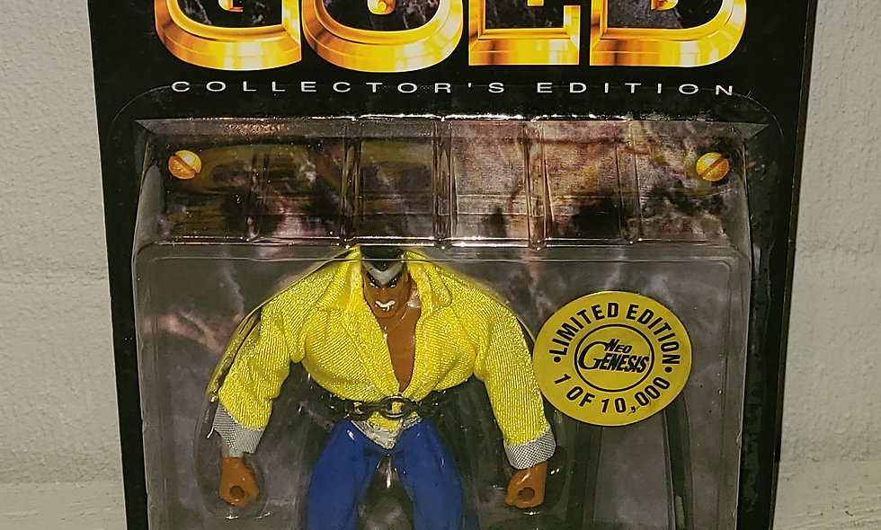 Marvel's Gold - Power Man - Limited 1 of 10,000 - 1997 Toy Biz