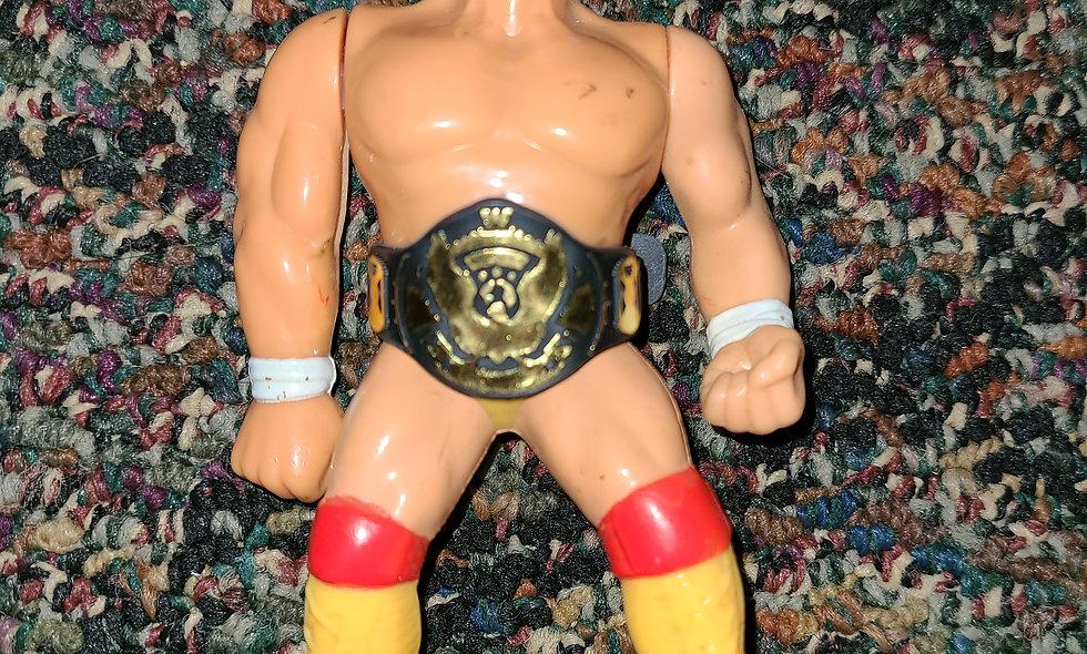 WWF Hasbro  - Hulk Hogan w/ Repro Belt - Action Figure - *No  Action Loose Arm