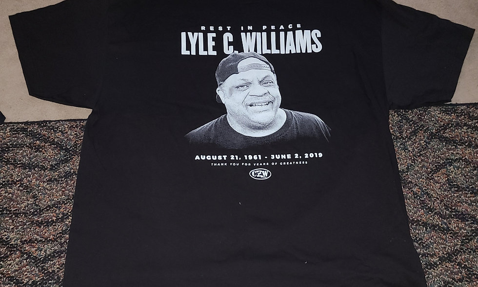 Lyle C Williams : CZW - 3x T-Shirt New