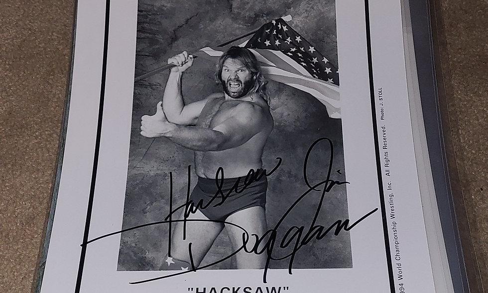 Hacksaw Jim Duggan  - WWE / WWF / WCW - Autographed 8×10