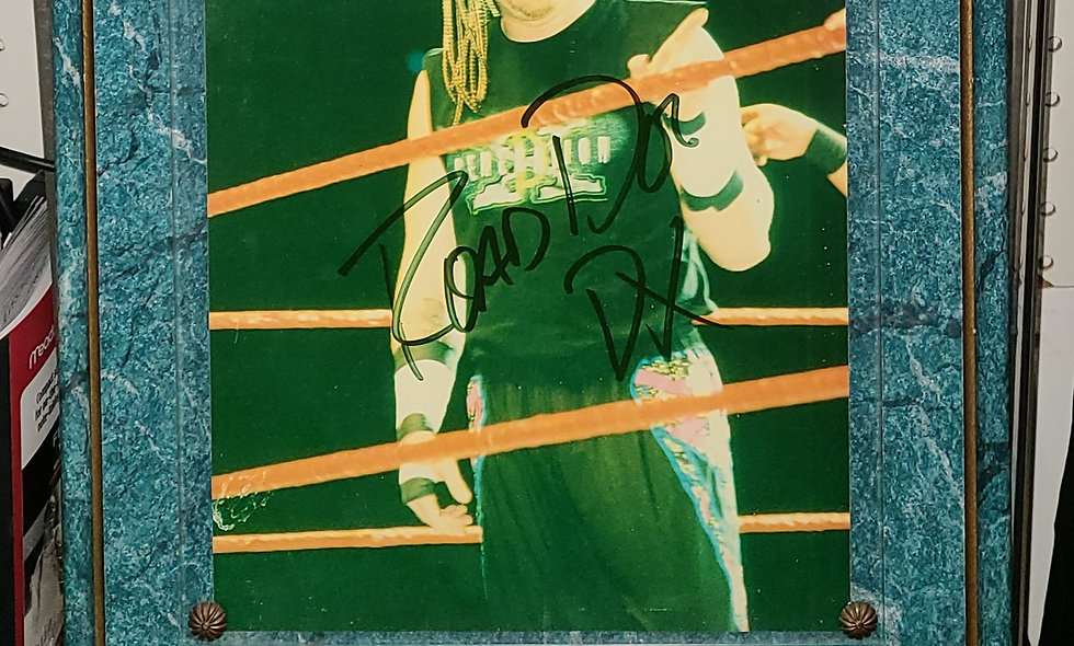 Road Dogg - Autographed Plaque - Photo By Scott Finkelstein