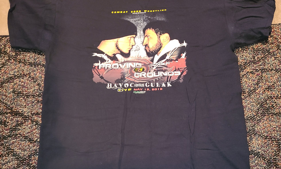 CZW - Proving Ground 2012 (Danny Havoc vs Drew Gulak) T-Shirt - *NEW Size XL