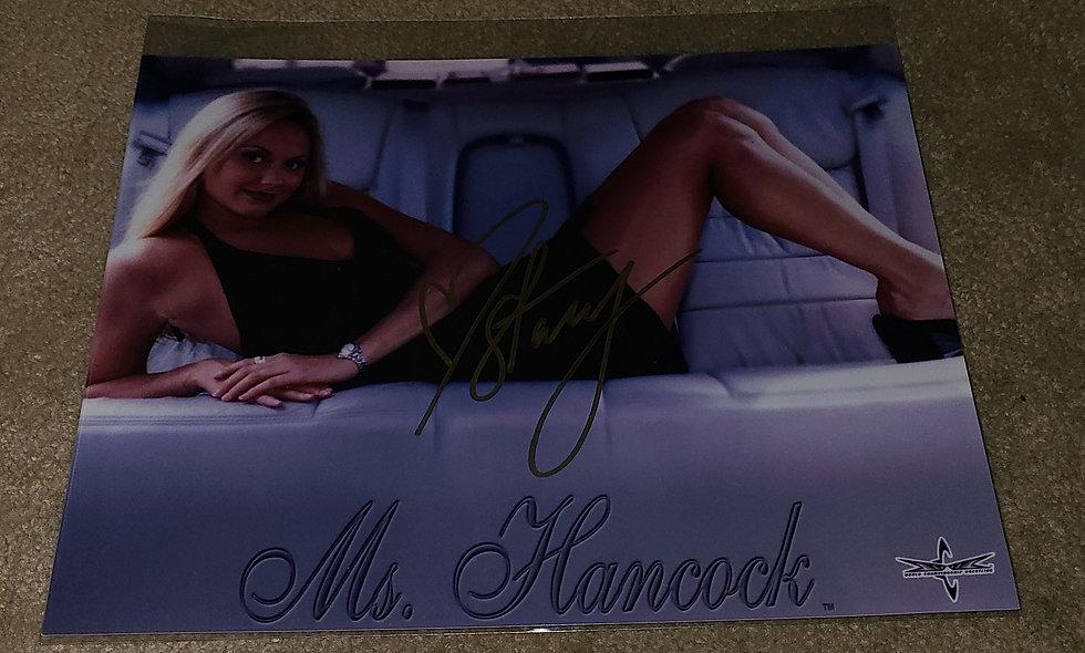 Stacy Kiebler aka Ms. Hancock - WCW / WWF / WWE - Autographed 8×10