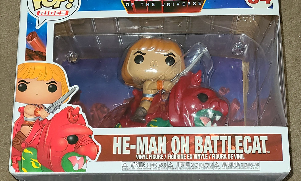 Funko Pop : Masters Of The Universe - He-man On Battlecat : #84