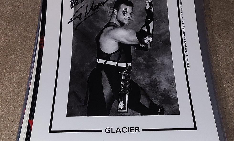 Glacier - WCW - Autographed 8×10