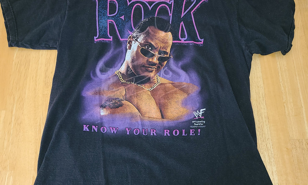 *Preowned  - The Rock (Know Your Role) T-Shirt Size L