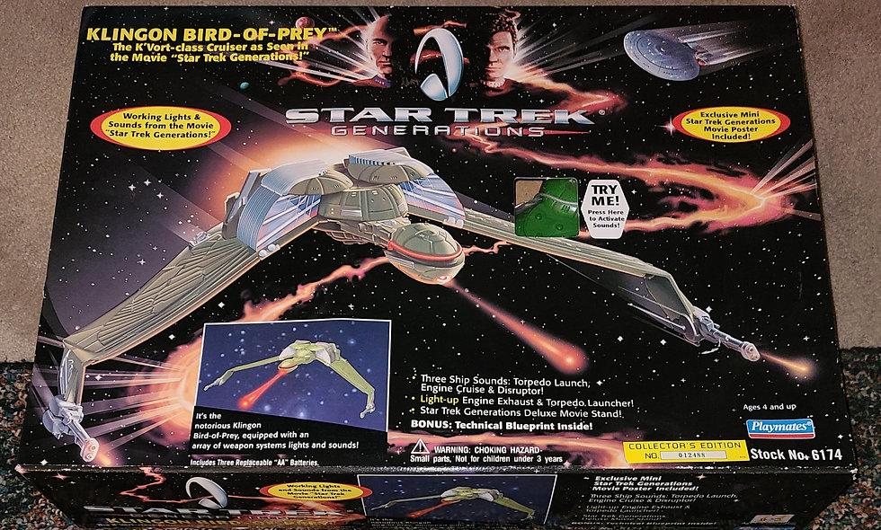 Star Trek : Generations - Klingon Bird Of Prey - Playmates *Open Box