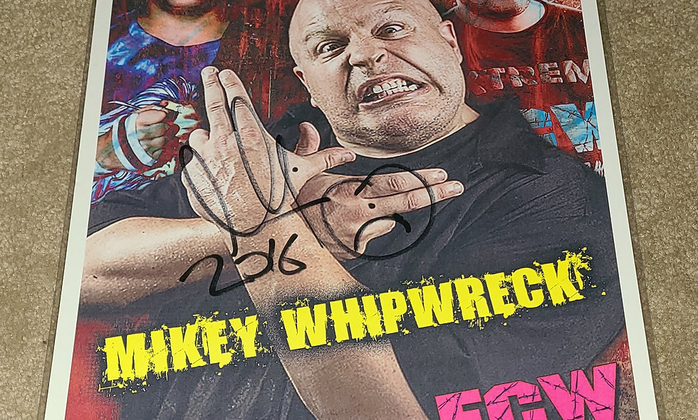 Mikey Whipwreck - ECW / ACW - Autographed 8.5×11