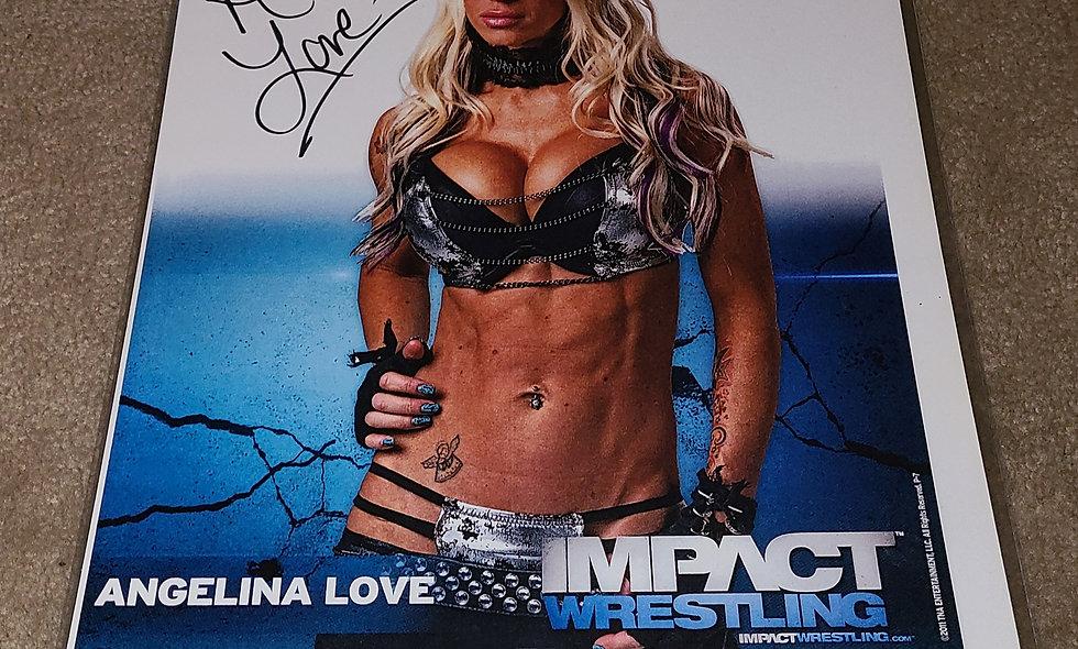 Angelina Love - TNA IMPACT - Autographed 8.5×11