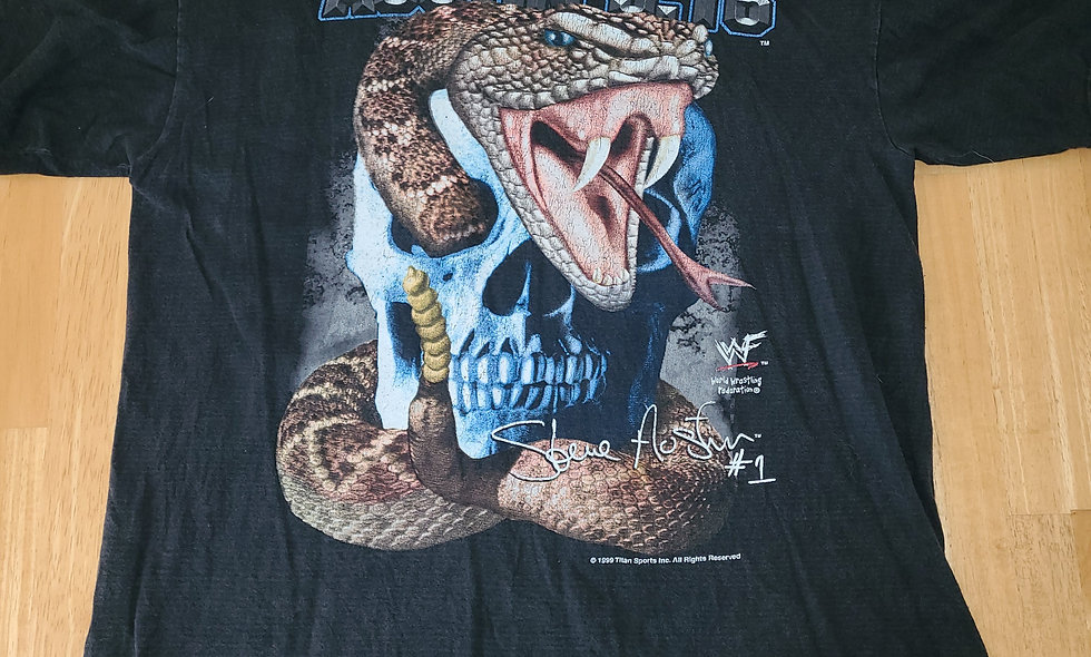*Preowned  - Stone Cold Steve Austin (Skull/Snake) T-Shirt Size XL