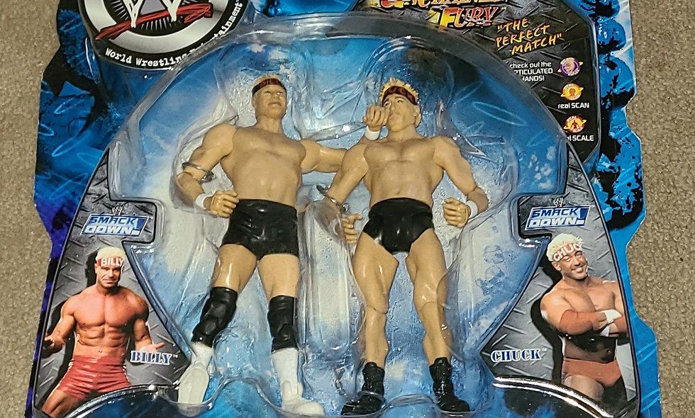 WWE : Unchained Fury : Billy & Chuck (Black Gear) - 2002 Jakks
