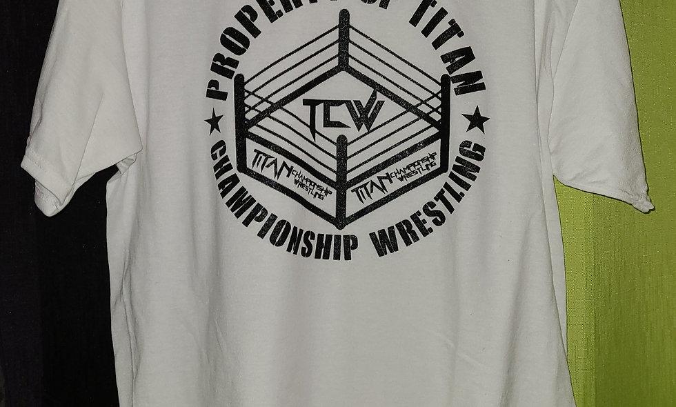 TCW (Titan Championship Wrestling) T-Shirt - Property Of Titan Design
