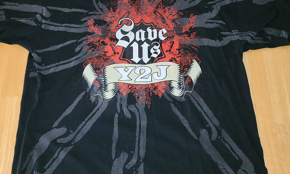 *Preowned  - WWE Chris Jericho : Save Us / Y2J T-Shirt Size 2X