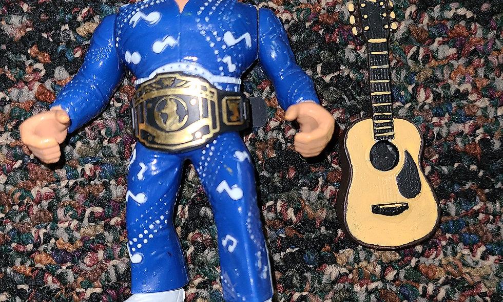 WWF Hasbro  - Honky Tonk Man w/ Repro Guitar & Belt - Action Figure * Action Wks