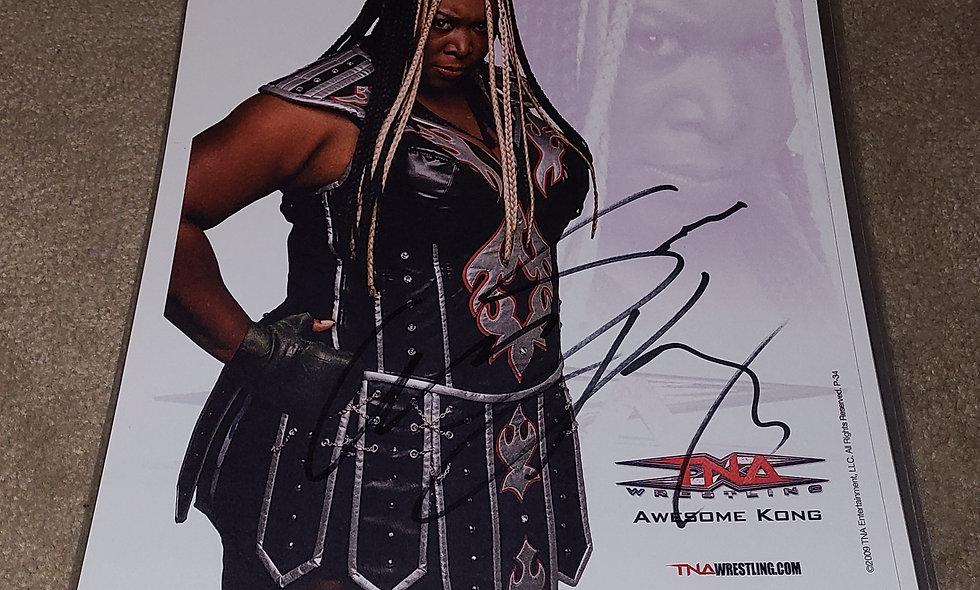 Awesome Kong - TNA Impact/ WWE - Autographed 8.5×11