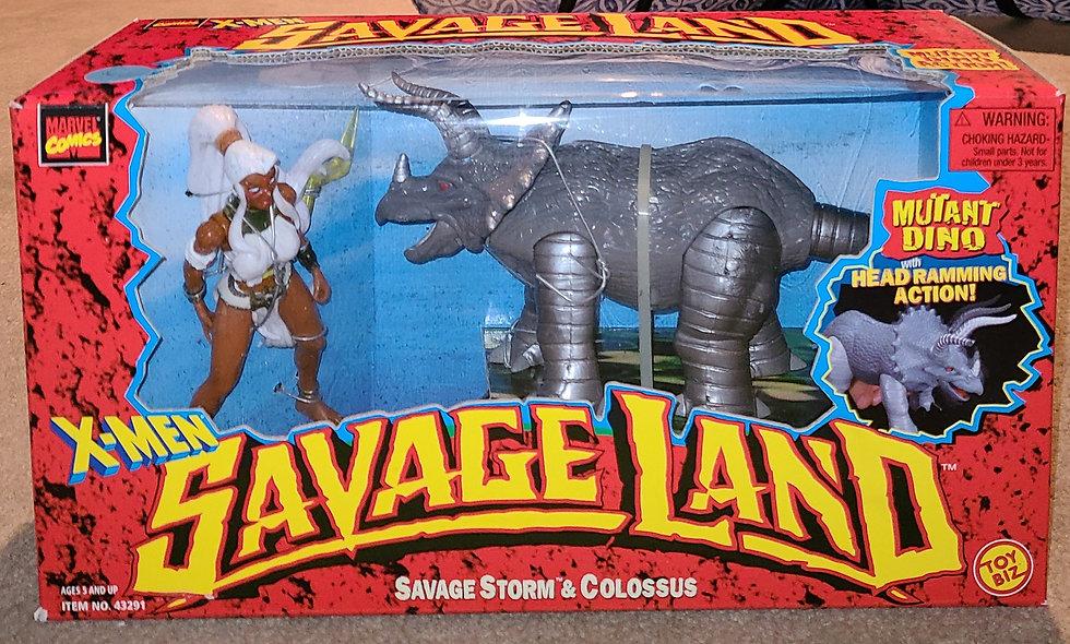 Savage Storm & Colossus - Savage Land / Marvel - ToyBiz 1997